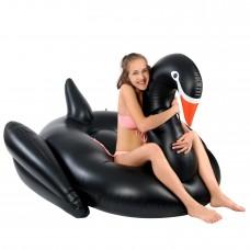 Óriási hattyú gumimatrac - fekete